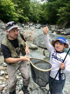 白馬村 渓流釣り