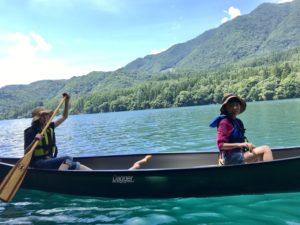 青木湖 カヌー