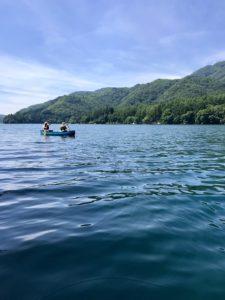 青木湖 カナディアンカヌー