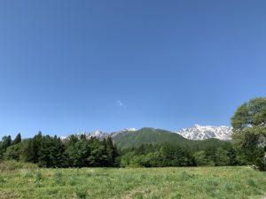 白馬村山の景色