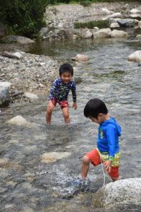 白馬村水遊び